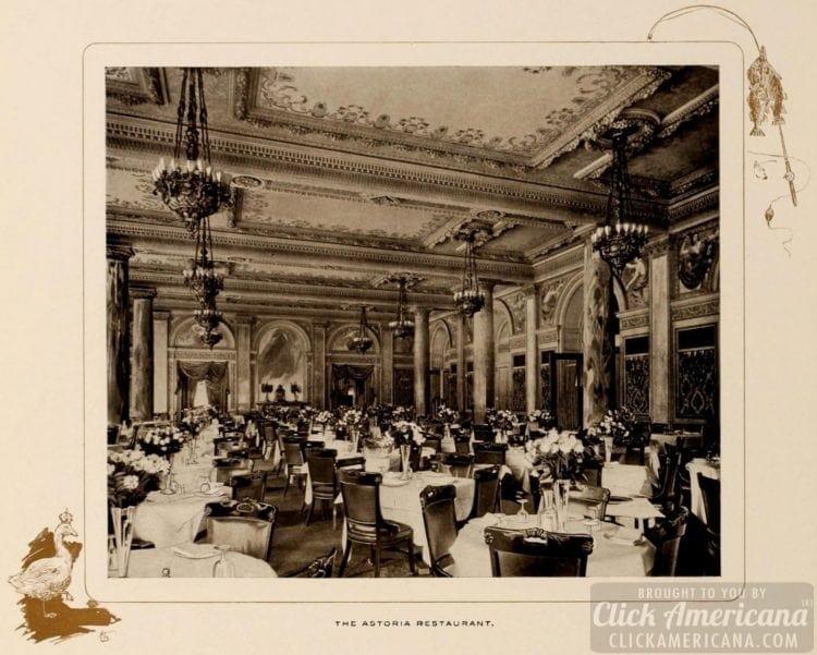 The Astoria hotel restaurant - 1903