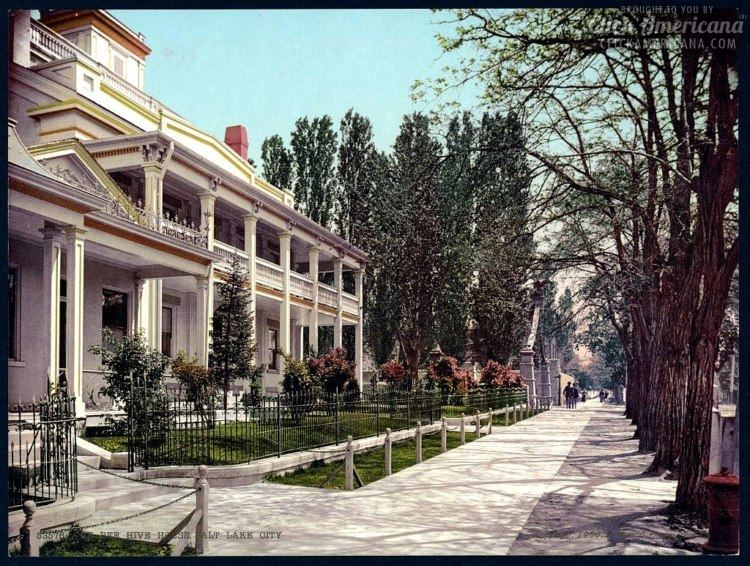 The Bee Hive House, Salt Lake City in 1900