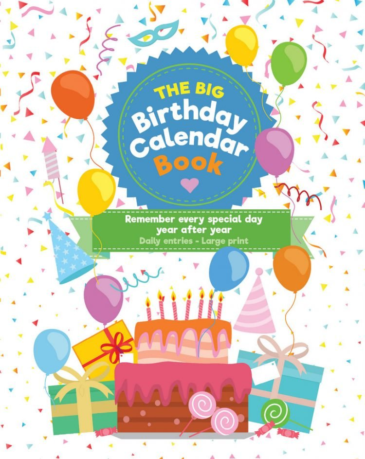 The Big Birthday Calendar Book - Cover
