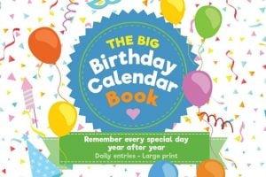 The Big Birthday Calendar Book - Cover