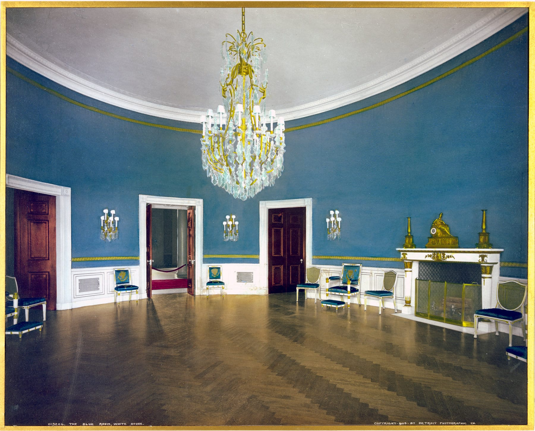 The Blue Room, White House (1904) - Click Americana
