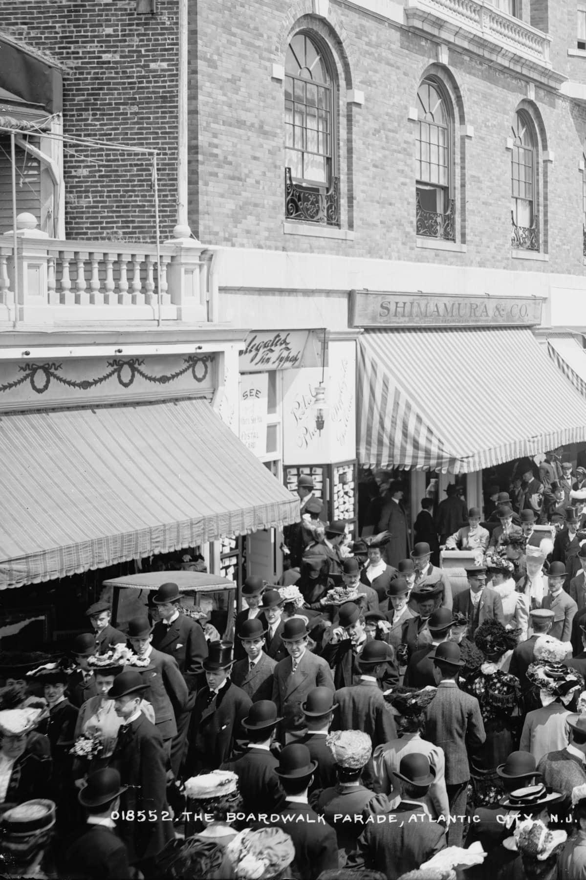 The Boardwalk parade, Atlantic City (around 1905)