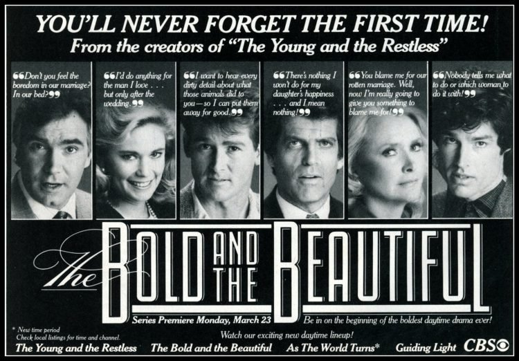 The Bold and the Beautiful You'll never forget the first time (1987)
