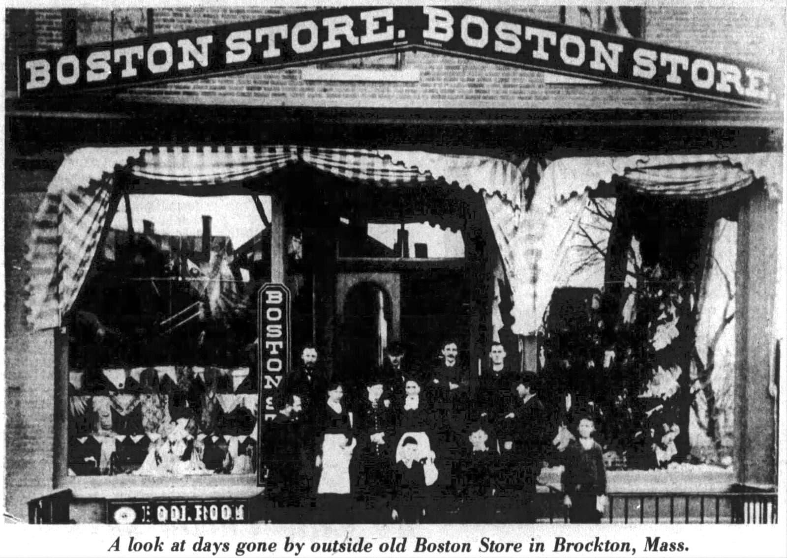 The Boston Store in Brockton Mass - James Edgar Santa Claus