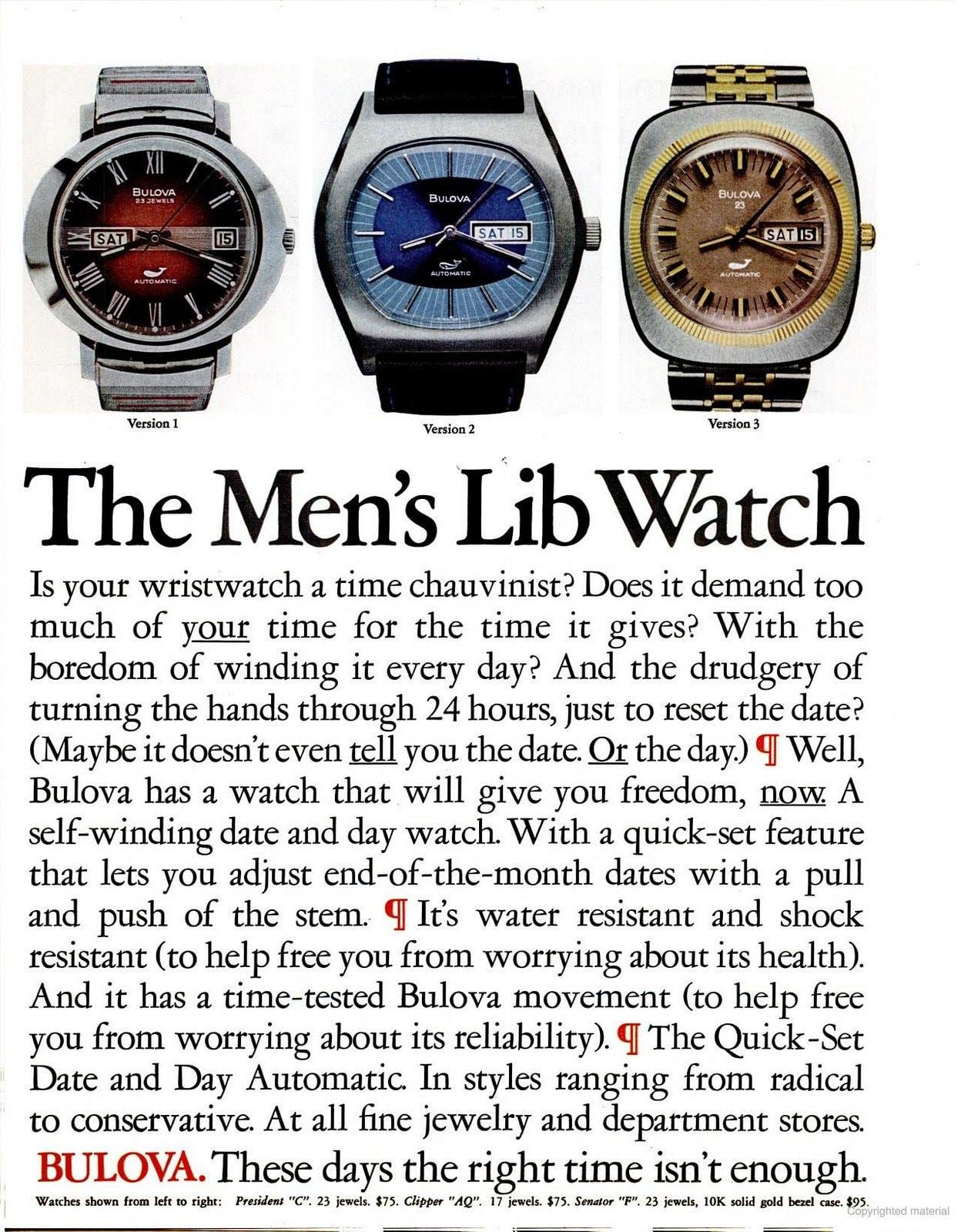 The Bulova Men's Lib Watch (1972)