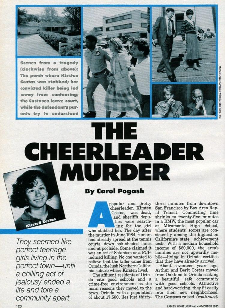 The Cheerleader Murder - Ladies Home Journal November 1985 (2)