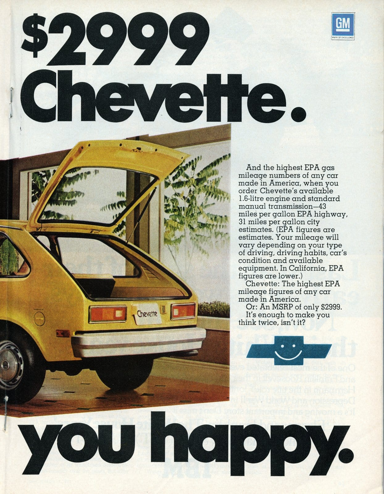 The Chevy Chevette will drive you happy(1977)