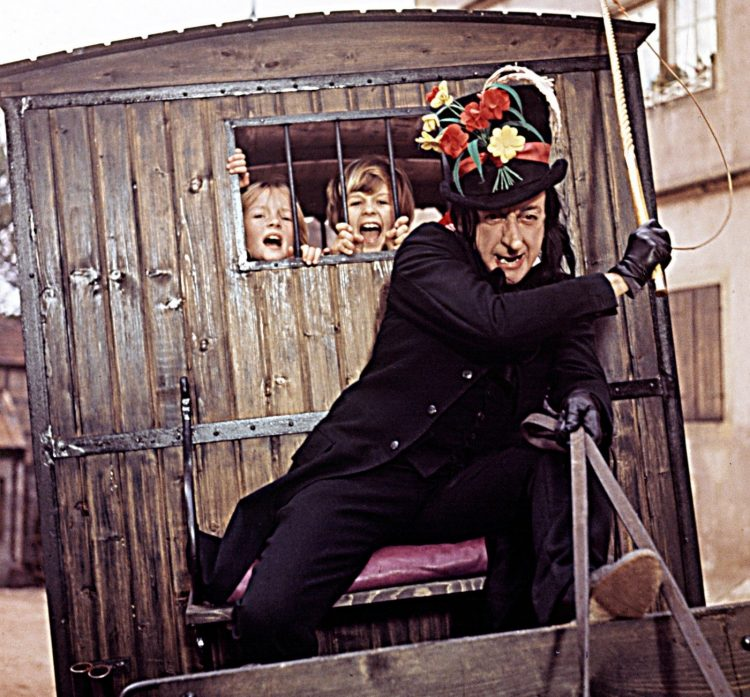 The Child Catcher in the 1968 Chitty Chitty Bang Bang movie