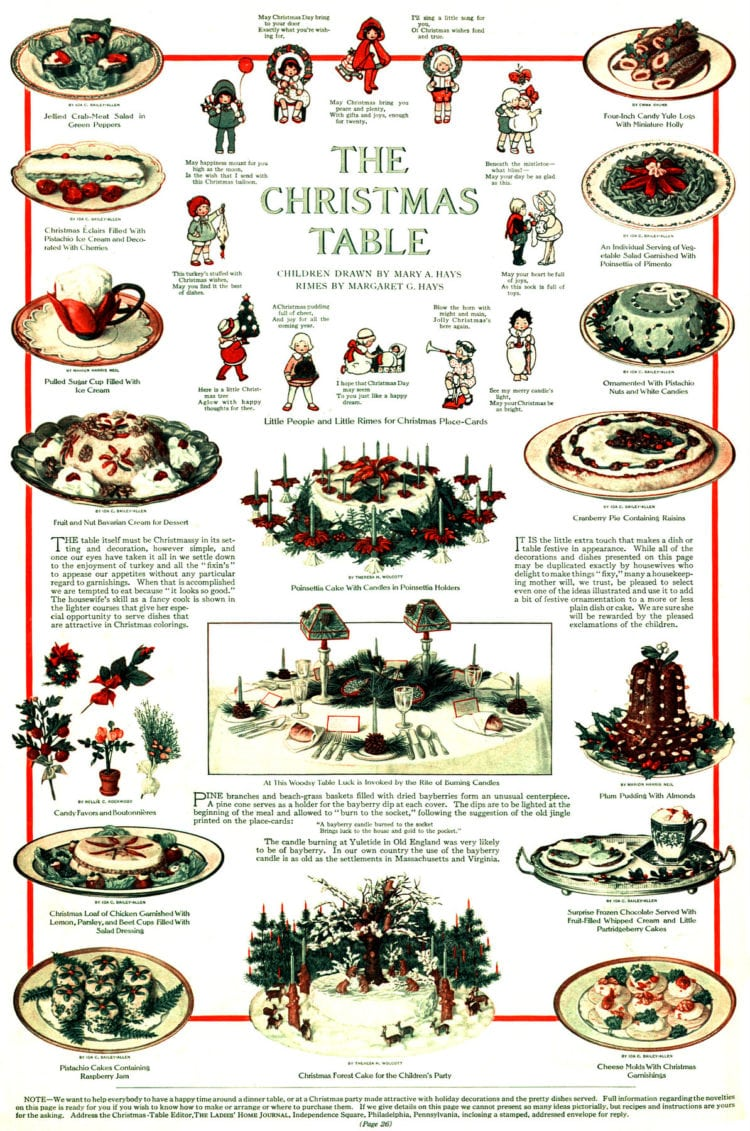 The table - Edwardian-style Christmas
