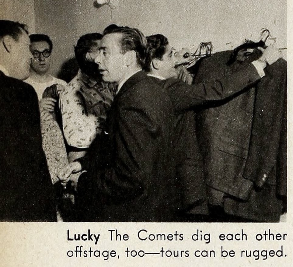 Lucky The Comets dig each other offstage, too -- tours can be rugged.