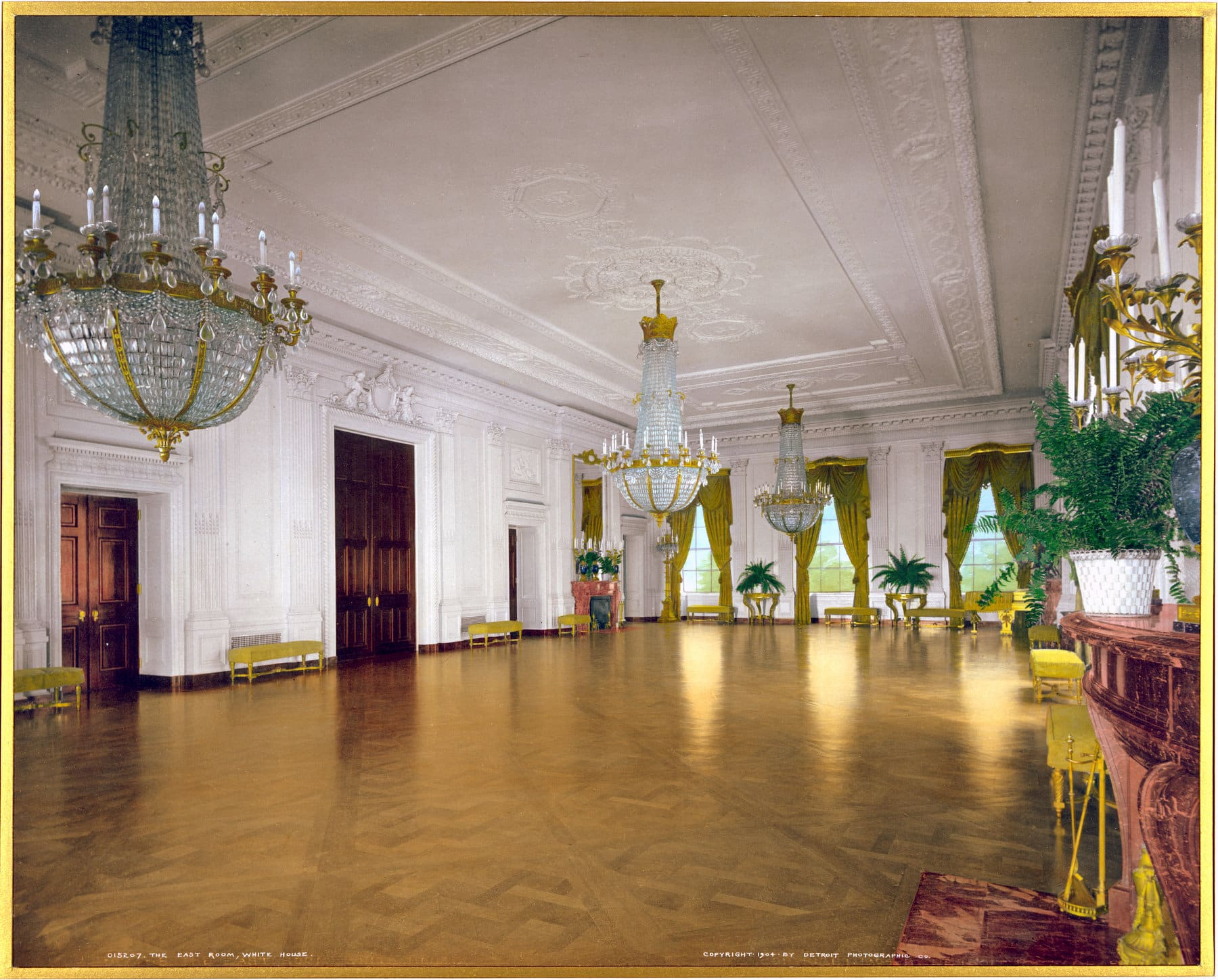 The East Room, White House (1904) - Click Americana