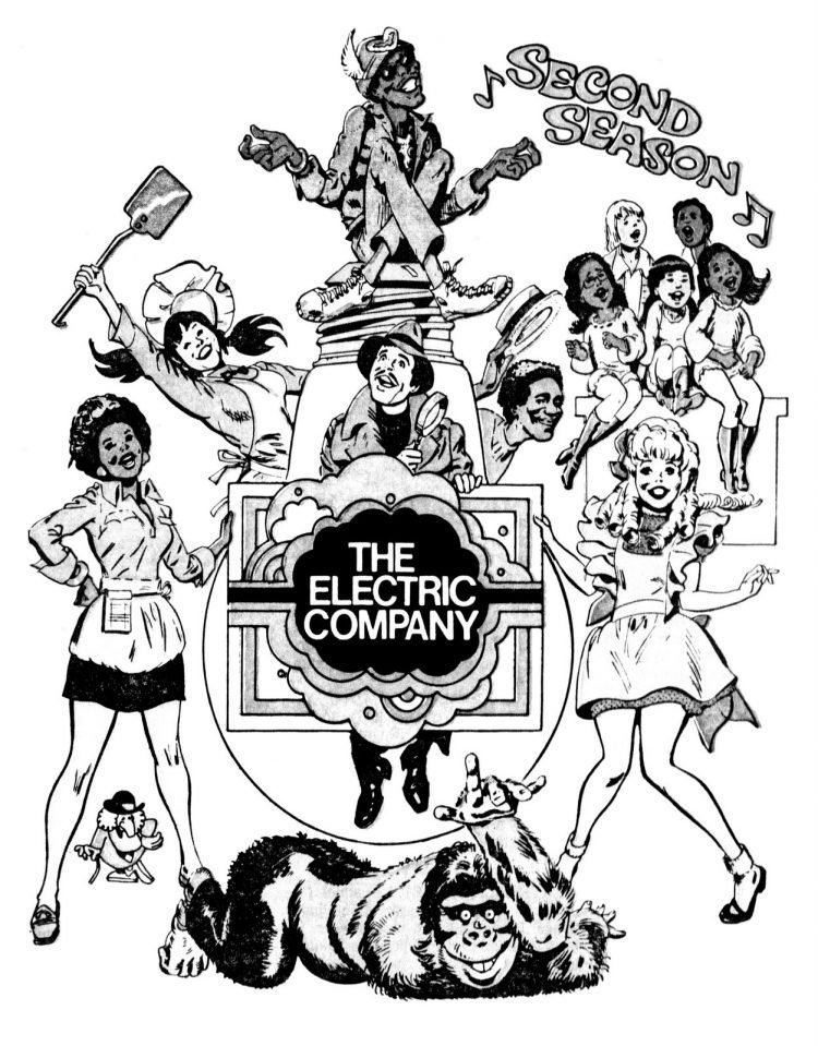 The Electric Company TV show cast cartoon from 1973