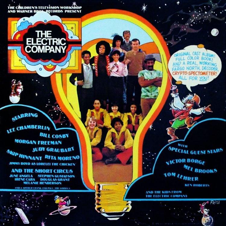 The Electric Company original cast album - Vinyl record cover