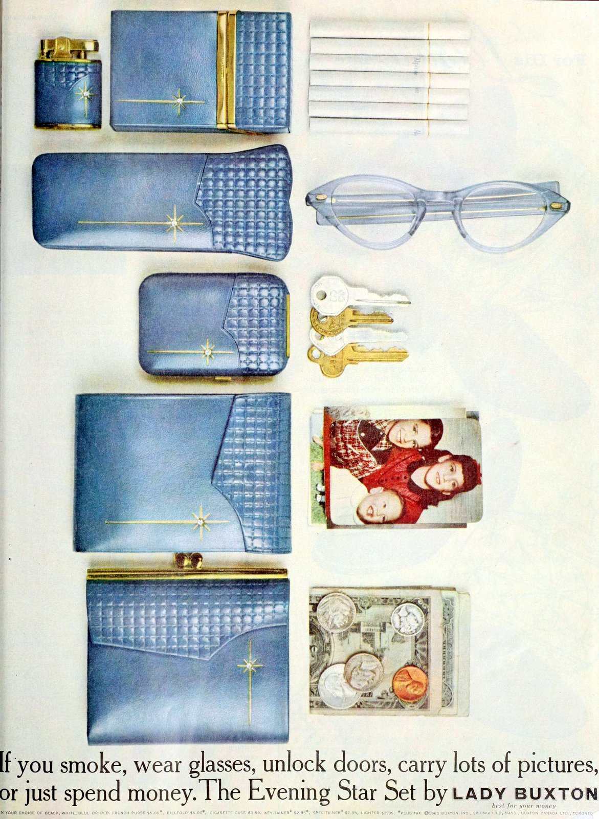 The Evening Star wallet and case set by Lady Buxton (1960)