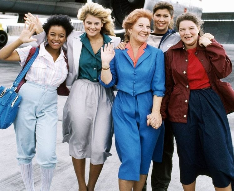 The Facts of Life cast - airport