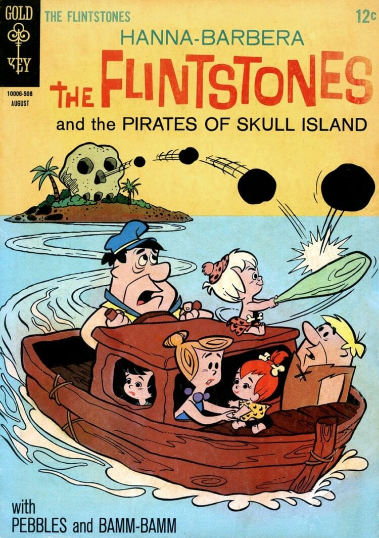The Flintstones and the Pirates of Skull Island 1961 comic book