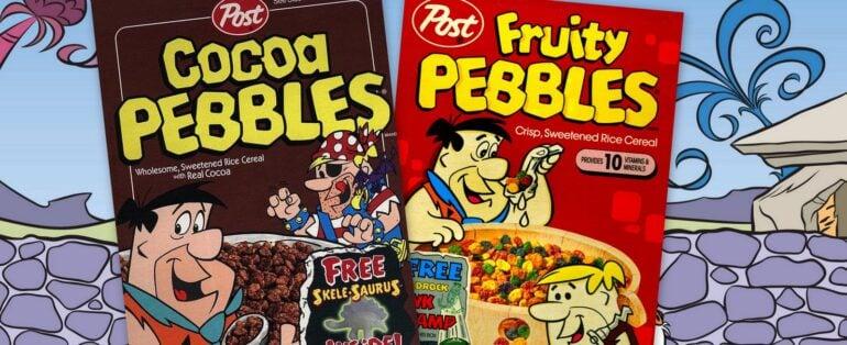The Flintstones help debut Fruity Pebbles & Cocoa Pebbles cereals (1970)
