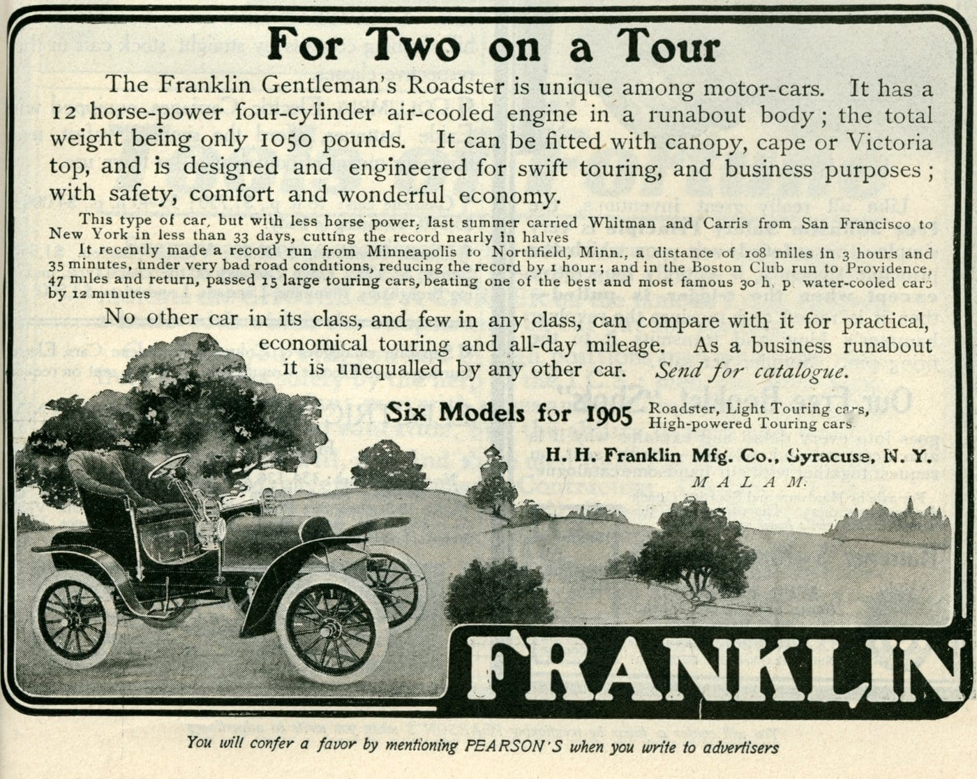 The Franklin Gentleman's Roadster motor-car (1905)
