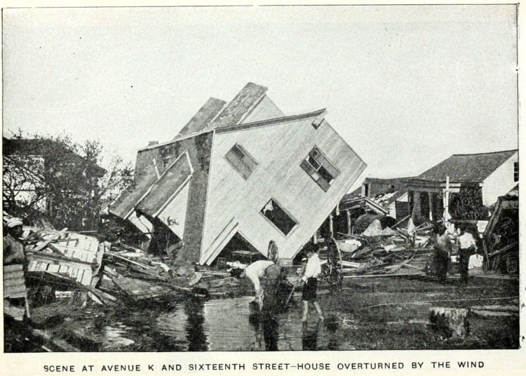 House overturned by the wind