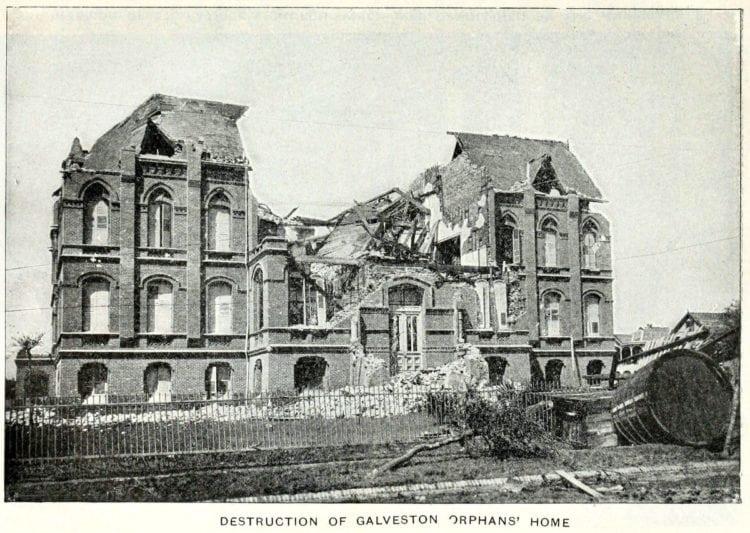 Destruction of Galveston Orphans' home