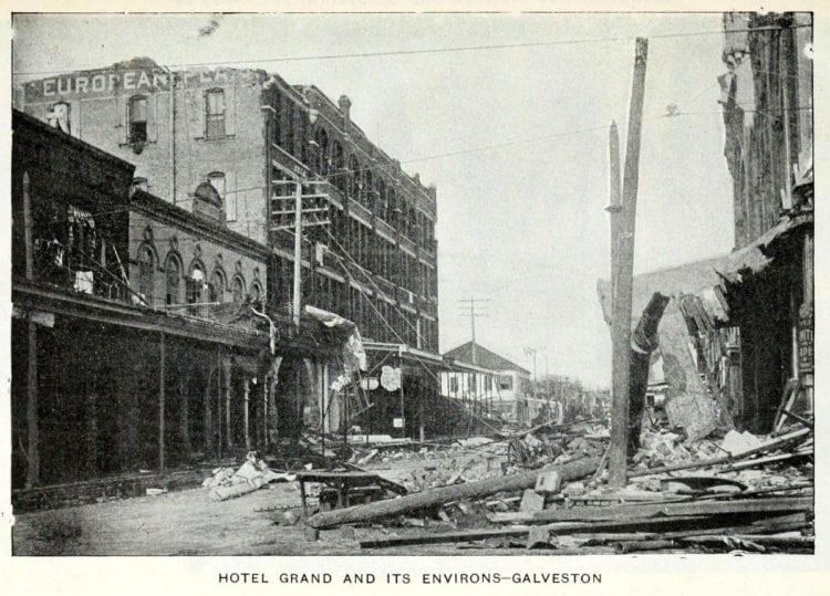 Scenes from Galveston's killer hurricane and flood (1900)
