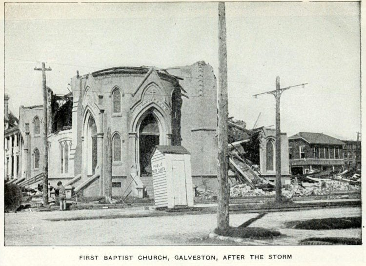 First Baptist church after the Galveston Hurricane of 1900