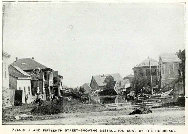 Scene of destruction from the Galveston Hurricane of 1900