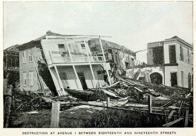 Pictures of the Galveston Hurricane of 1900