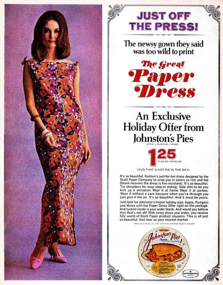 The Great Paper Dress - Johnston's Pie offer