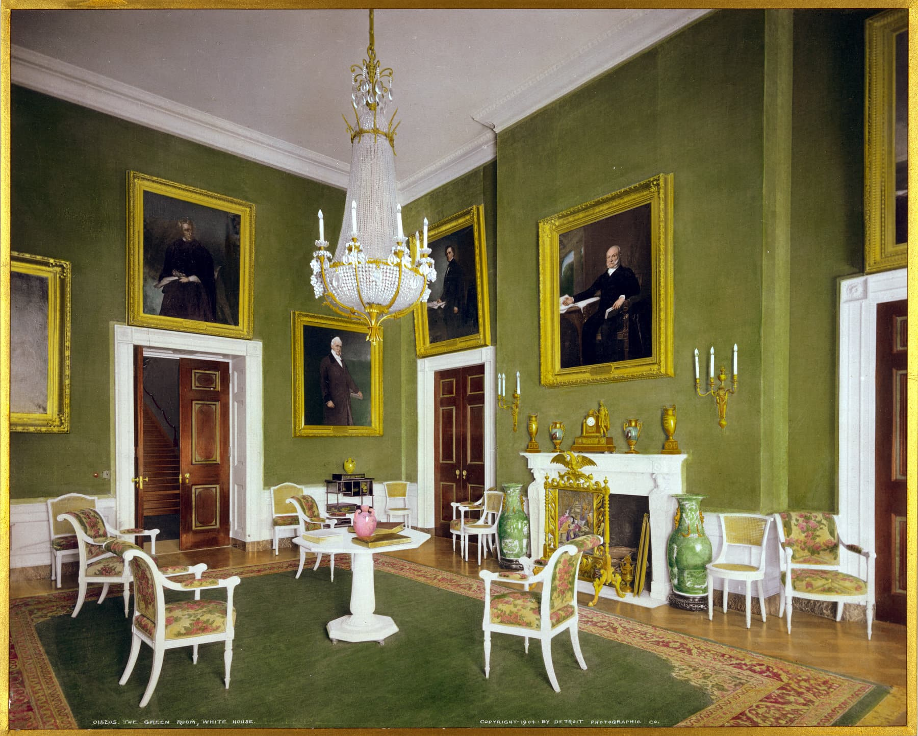 The Green Room, White House (1904) - Click Americana