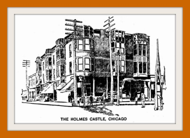 The Holmes murder castle in Chicago - 1896