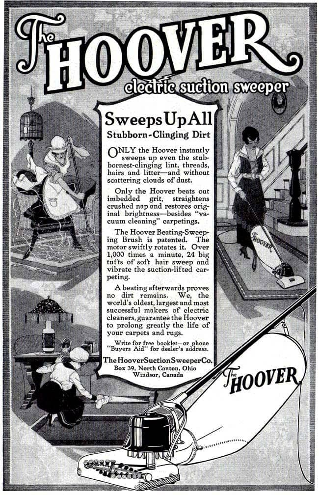The Hoover electric suction sweeper (1918)