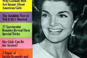 The Jackie Kennedy Look - Cosmopolitan magazine cover(1967)