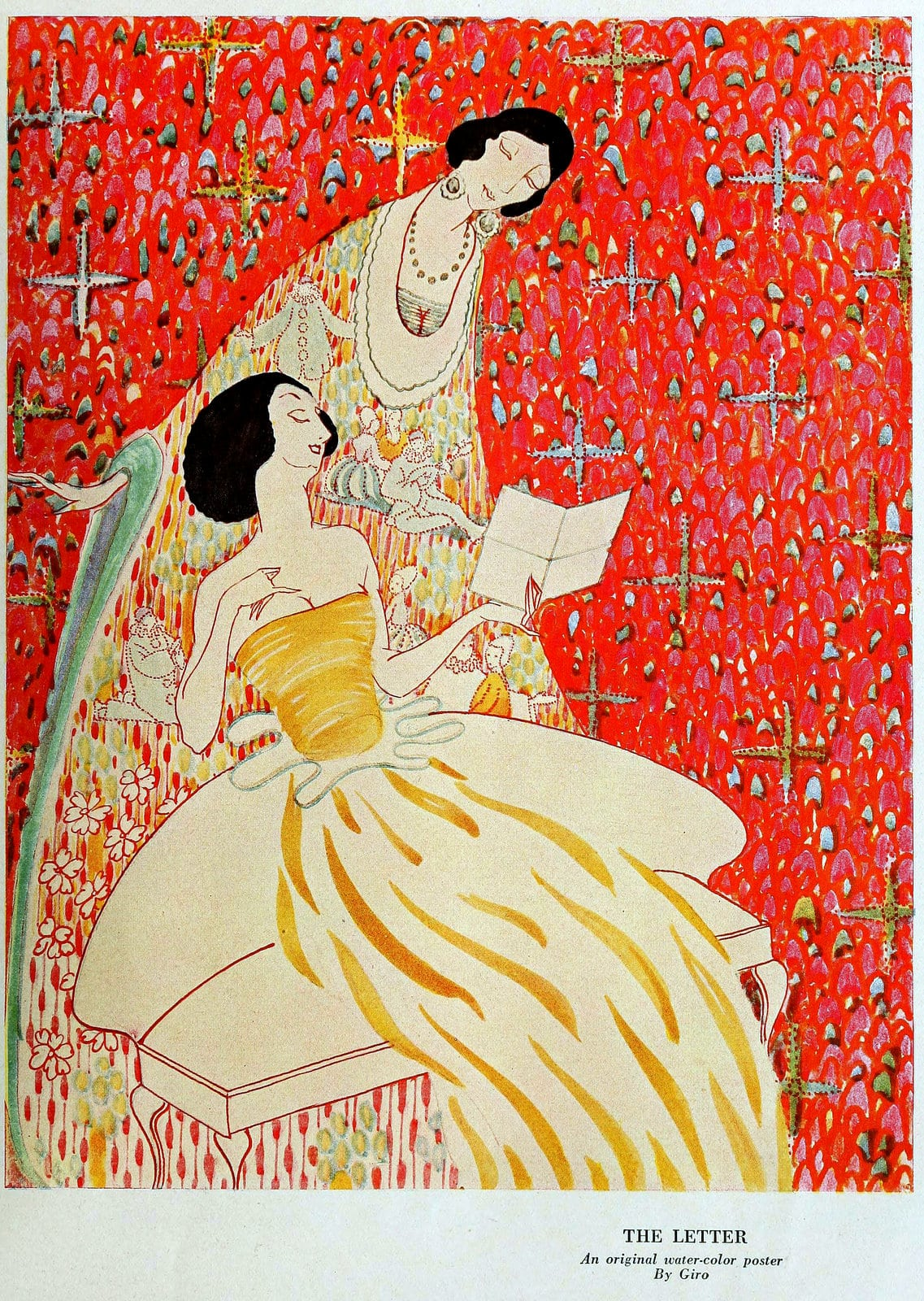 The Letter - Vintage art by Giro (c1915)
