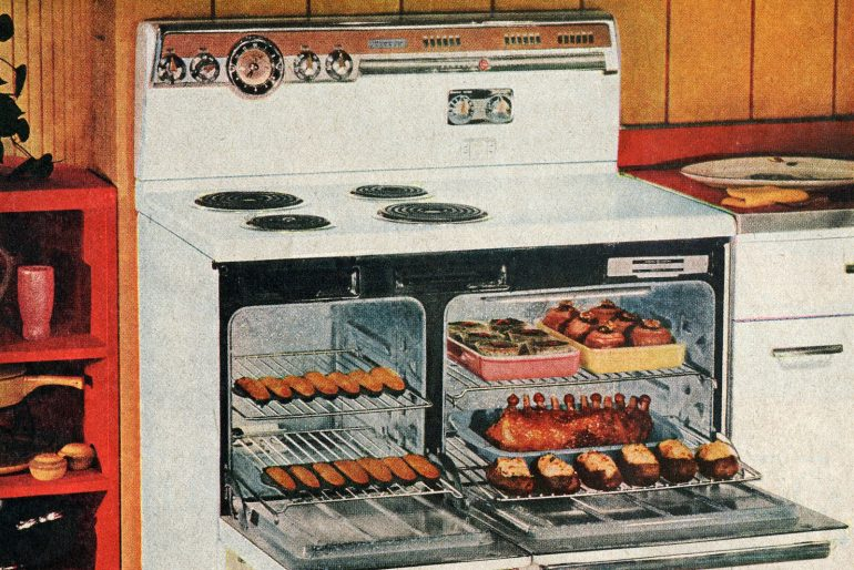 The Liberator Old-fashioned GE Deluxe Speed-Cooking electric ranges (1955)