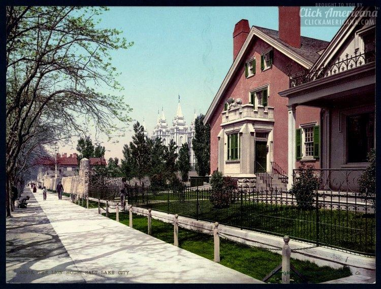 The Lion House, Salt Lake City in 1900