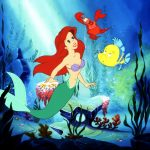 The Little Mermaid movie - Ariel underwater - 1989