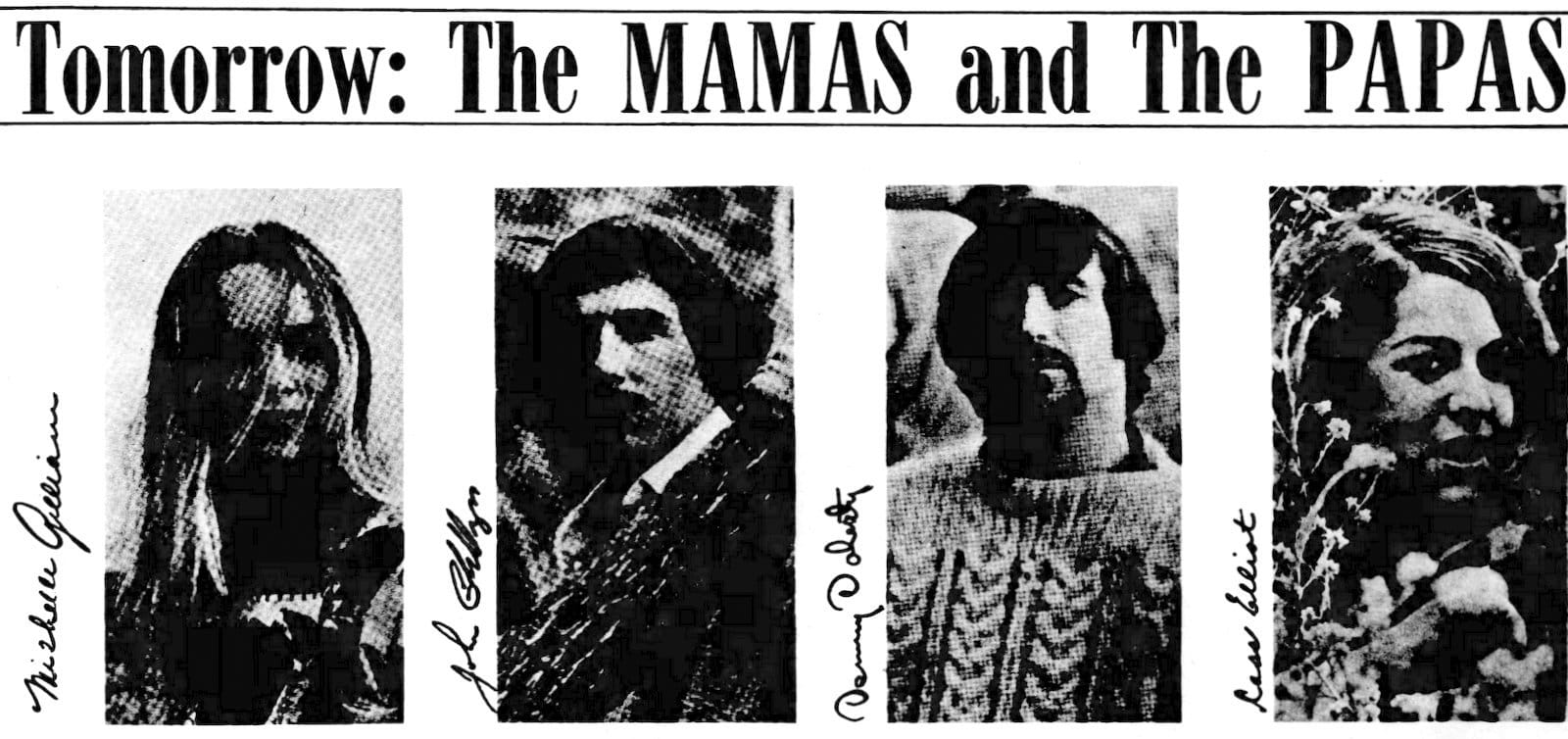 The Mamas & The Papas - Indianapolis concert May 1967