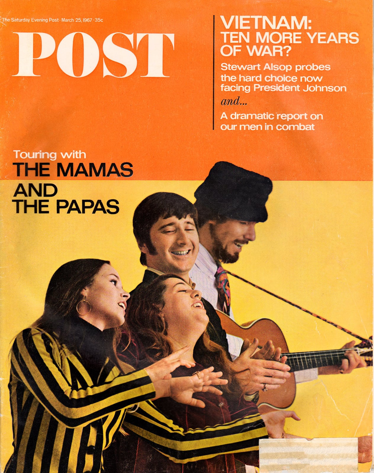 The Mamas and the Papas - Post magazine cover (1967)