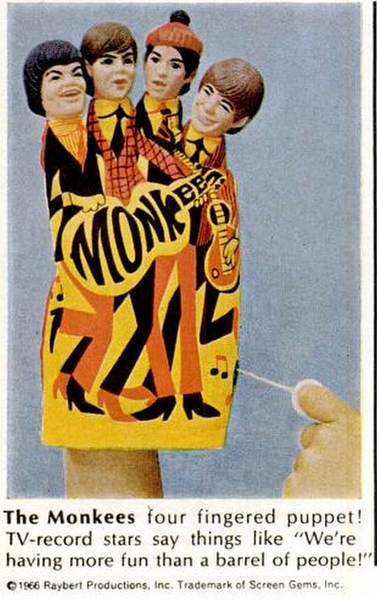 The Monkees 4-fingered puppet toy from 1967