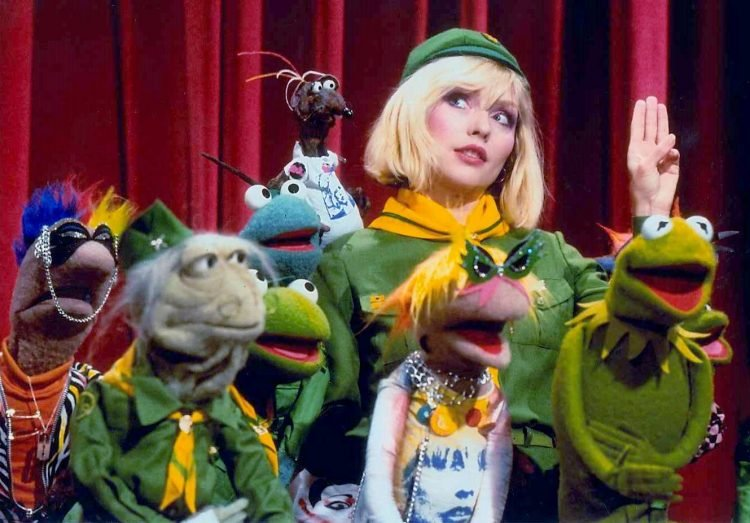 The Muppet Show puppets with singer Debbie Harry of Blondie