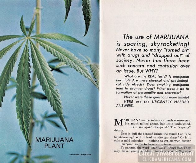 The New Facts About Marijuana 1970