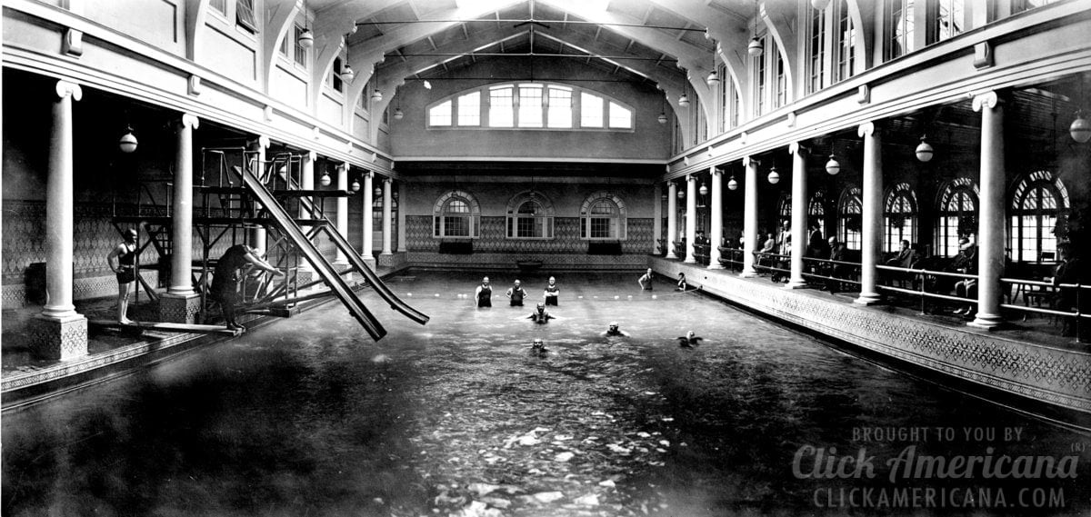 Dive into these 10 amazing old indoor swimming pools