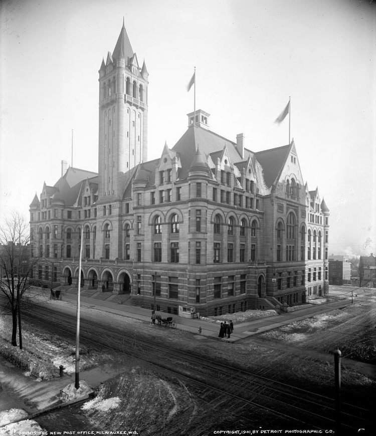 The New post office, Milwaukee, Wis - 1901