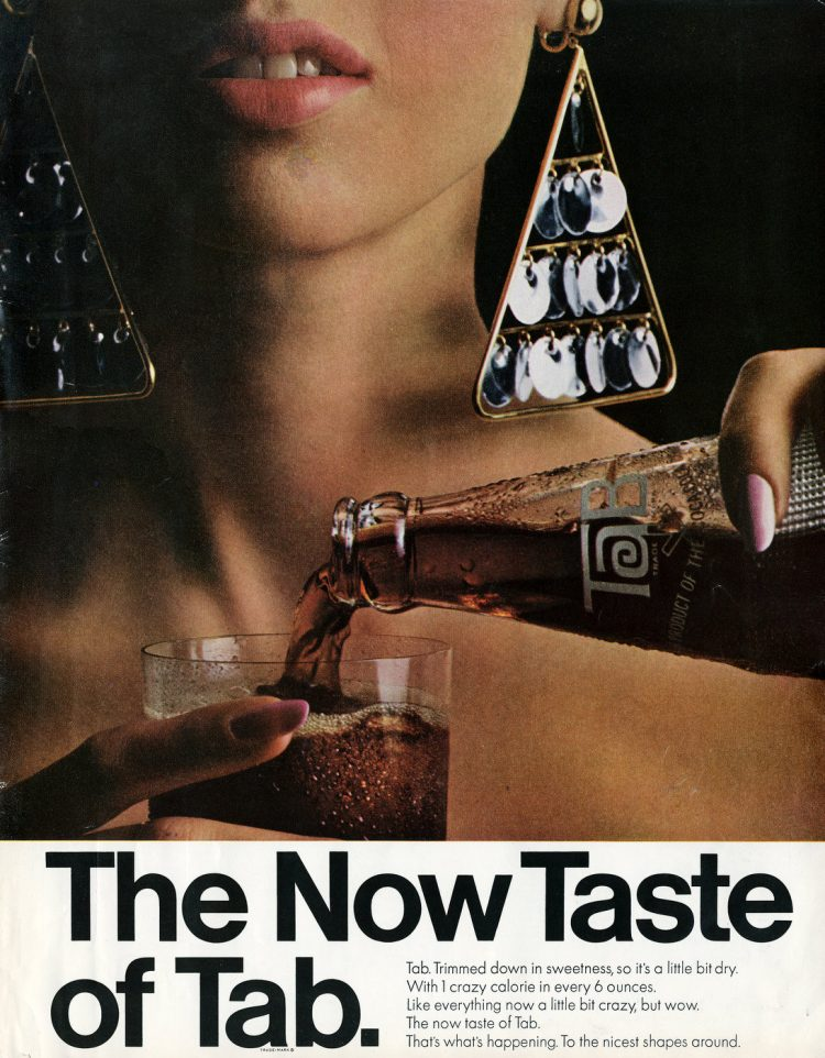 The Now taste of Tab soda from 1966