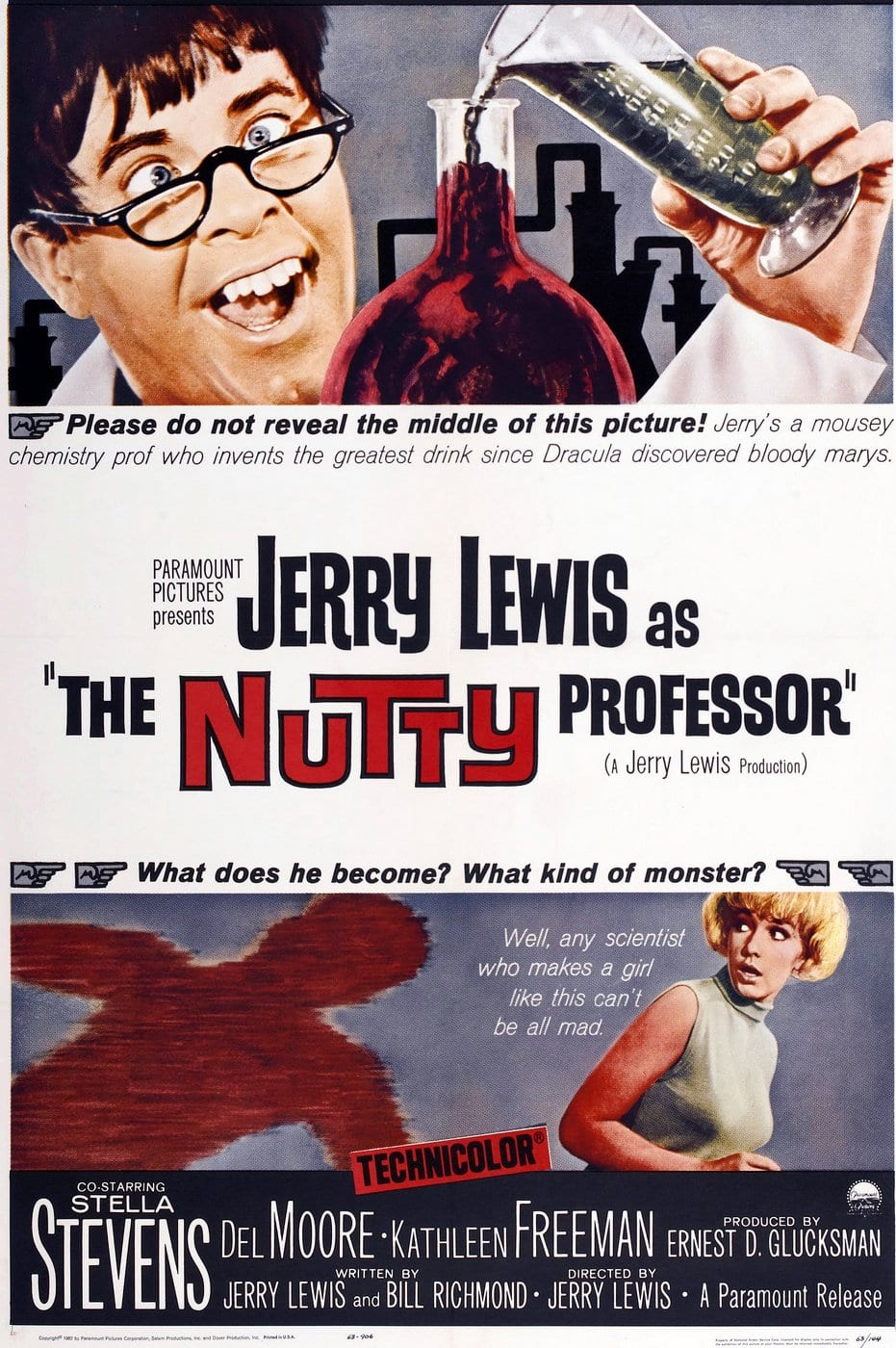 The Nutty Professor movie poster (1960s)
