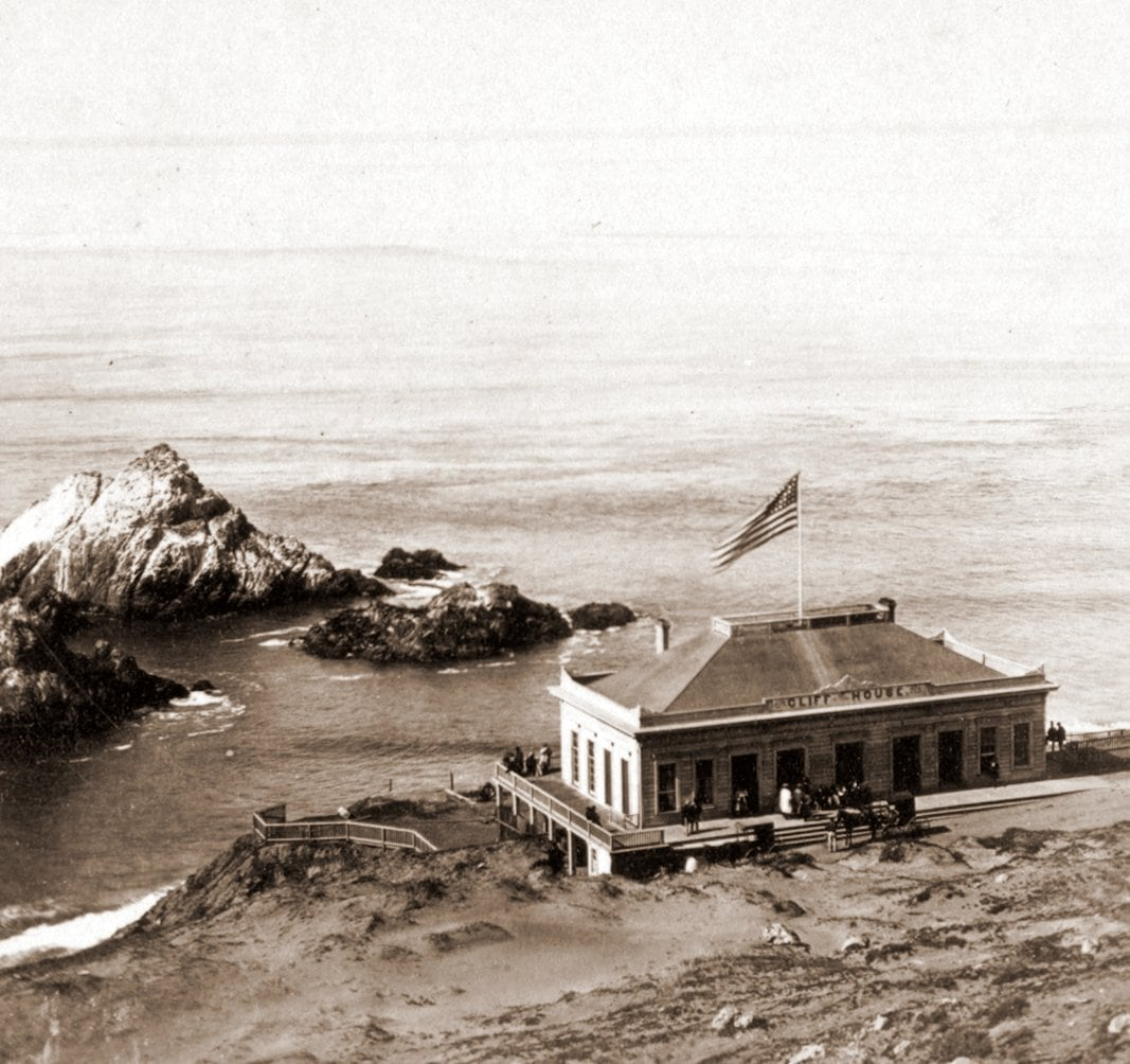 The Old Cliff House (San Francisco) in the c1865
