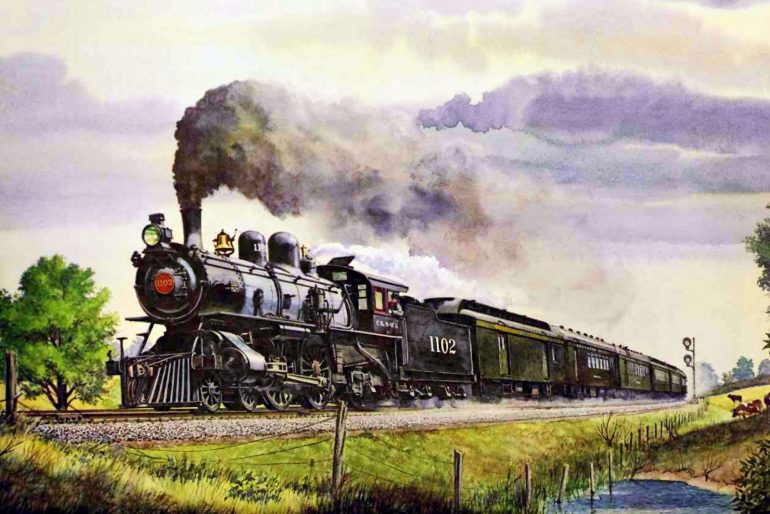 The Overland Limited railroad train