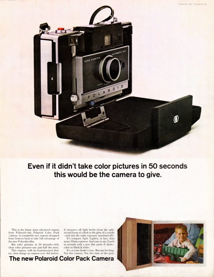 The Polaroid Color Pack camera (1963)