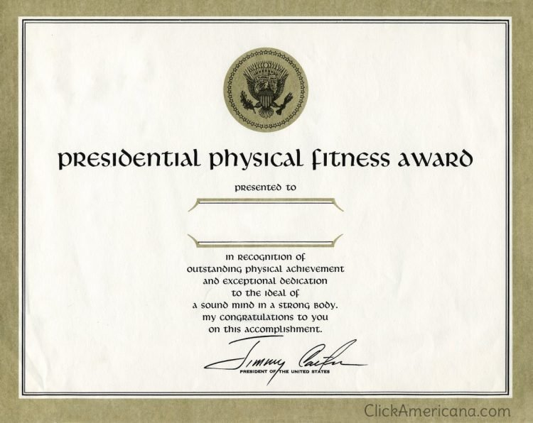 The Presidential Physical Fitness Award - Jimmy Carter
